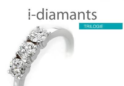Bague diamant trilogie