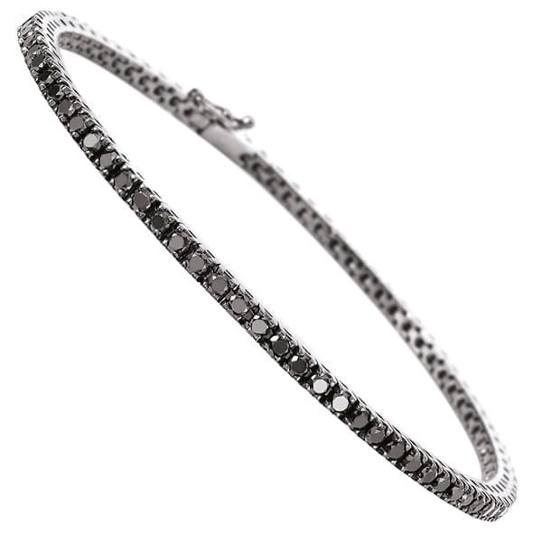 Bracelet diamants noirs sur or noir