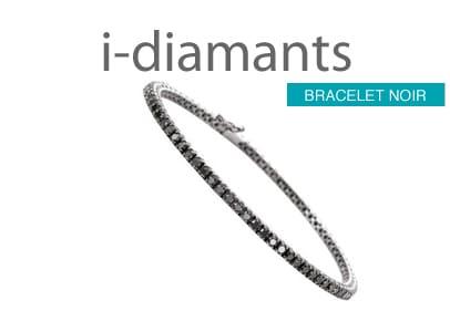 Bracelet diamant or noir