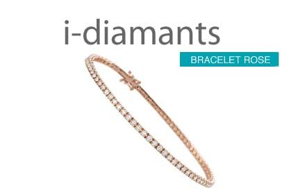 bracelet diamant or rose