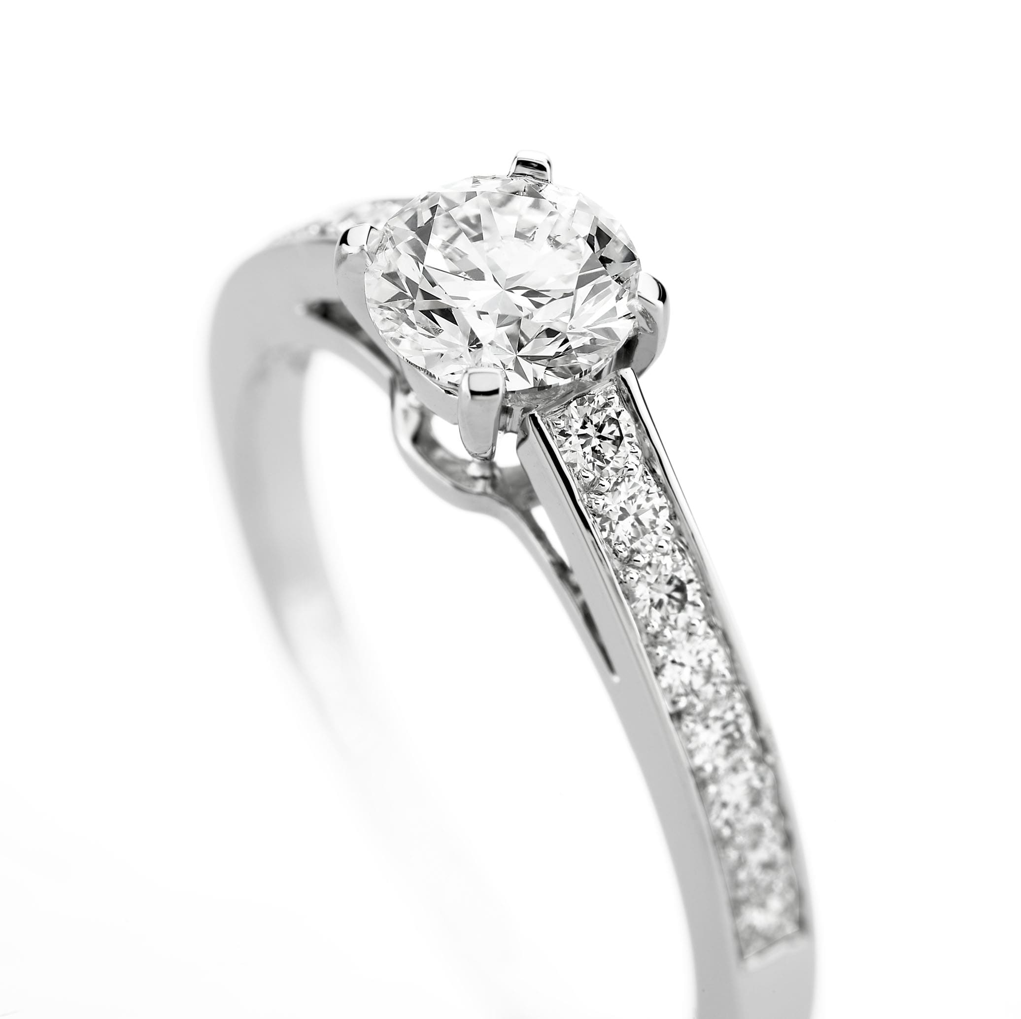 Diamond Engagement RIng paved with diamonds