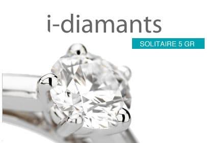 Solitaire diamant à 5 griffes