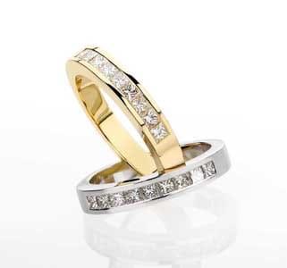 Alliance mariage en diamant