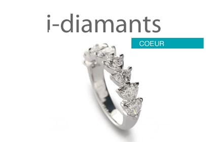 Alliance diamant coeur