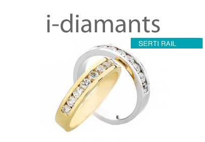 alliance diamant serti rail