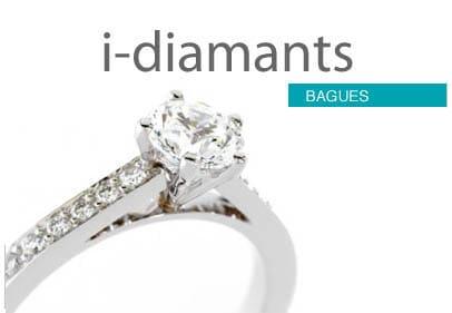 Bague diamant avec pavage