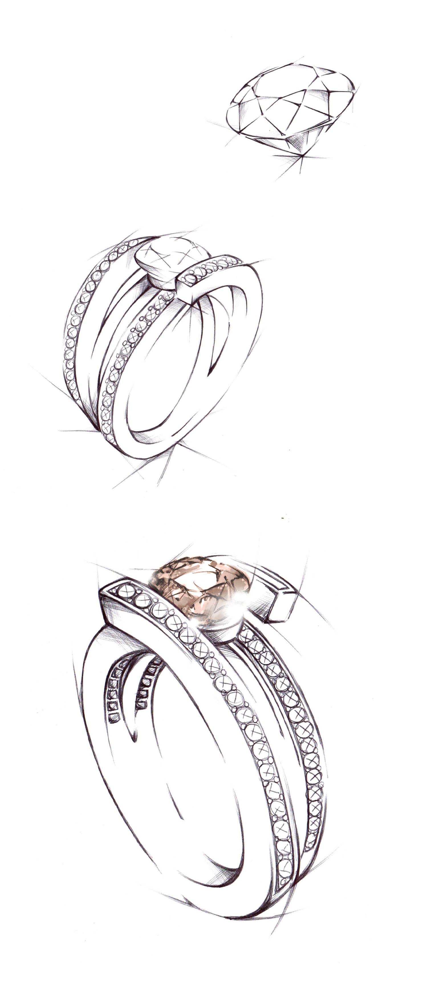 Création bijou unique diamant