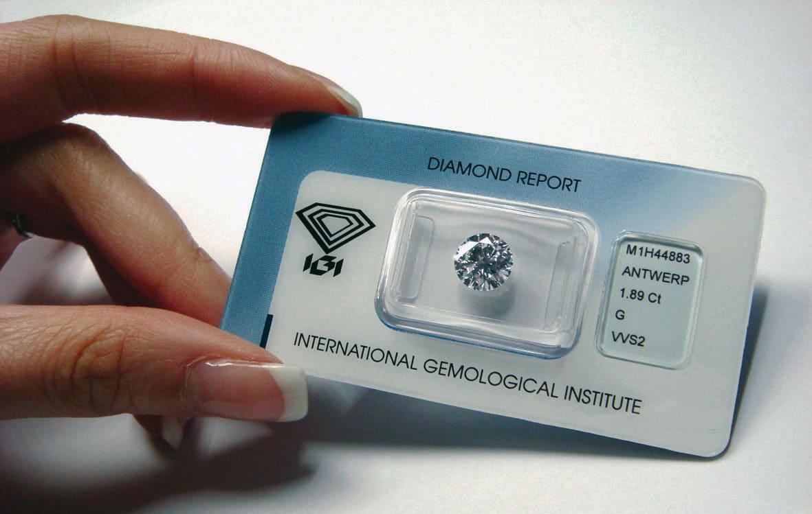 diamant sous scellé