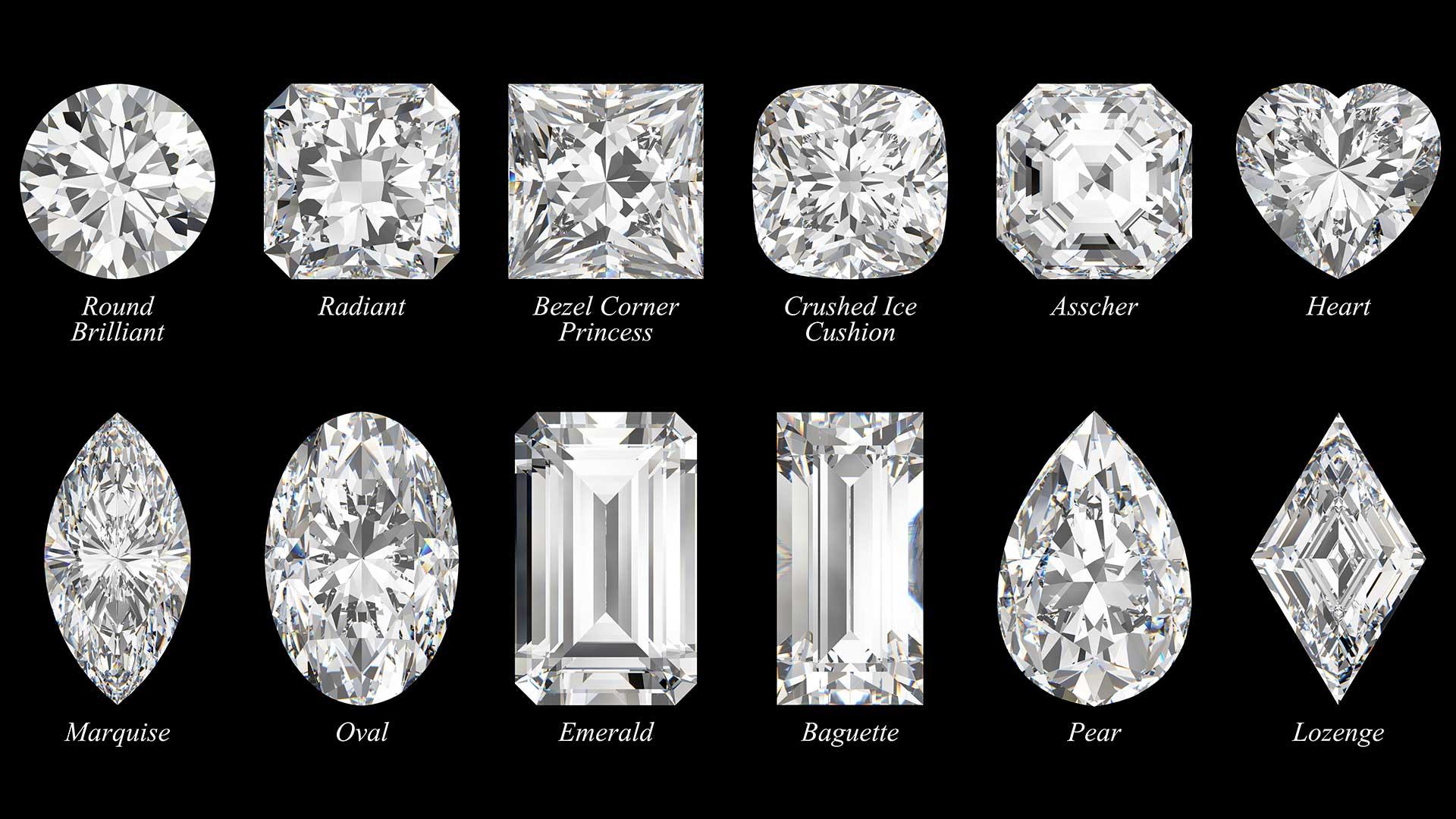 Les différentes formes d'un diamant