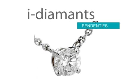 pendentif solitaire diamant sans bélière