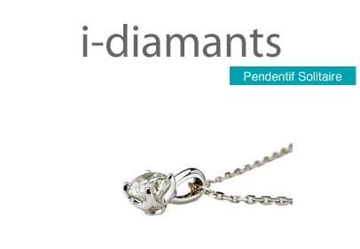 pendentif solitaire diamant avec bélière