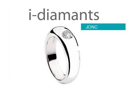 solitaire diamant jonc