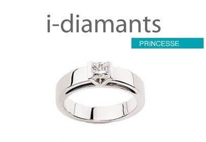 Solitaire Diamant Princesse