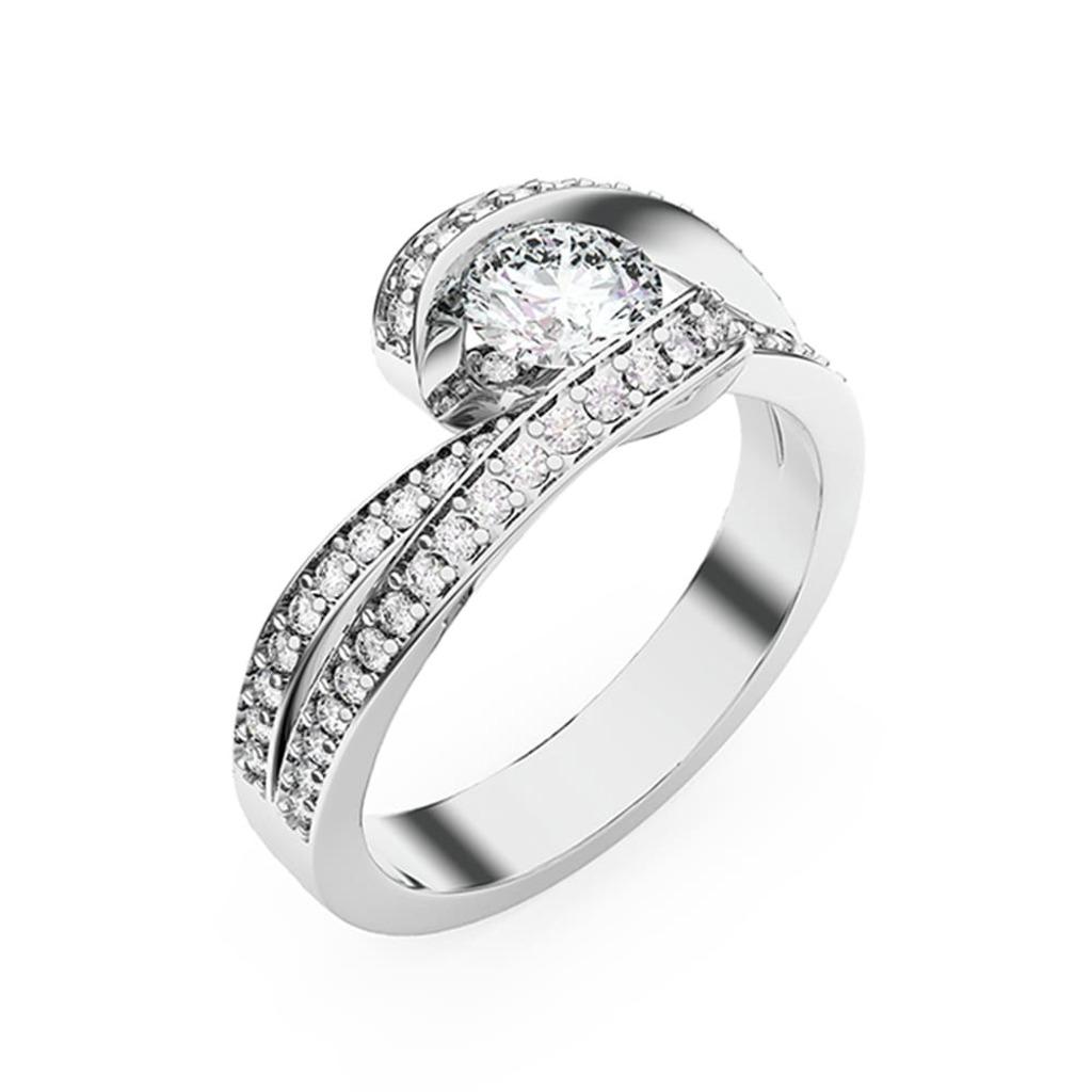 Bague  Classique  Diamant CARESSE