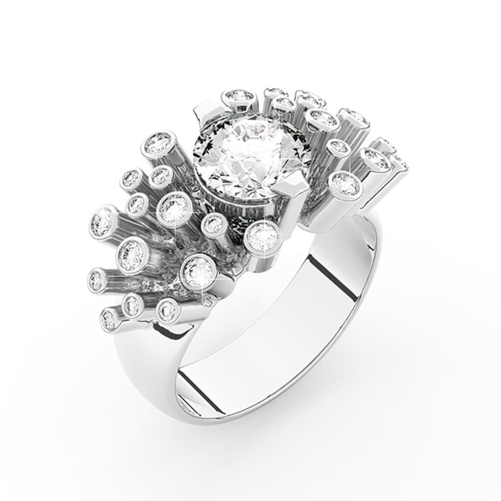 Ring Designer jewellery Diamond FIREWORKS