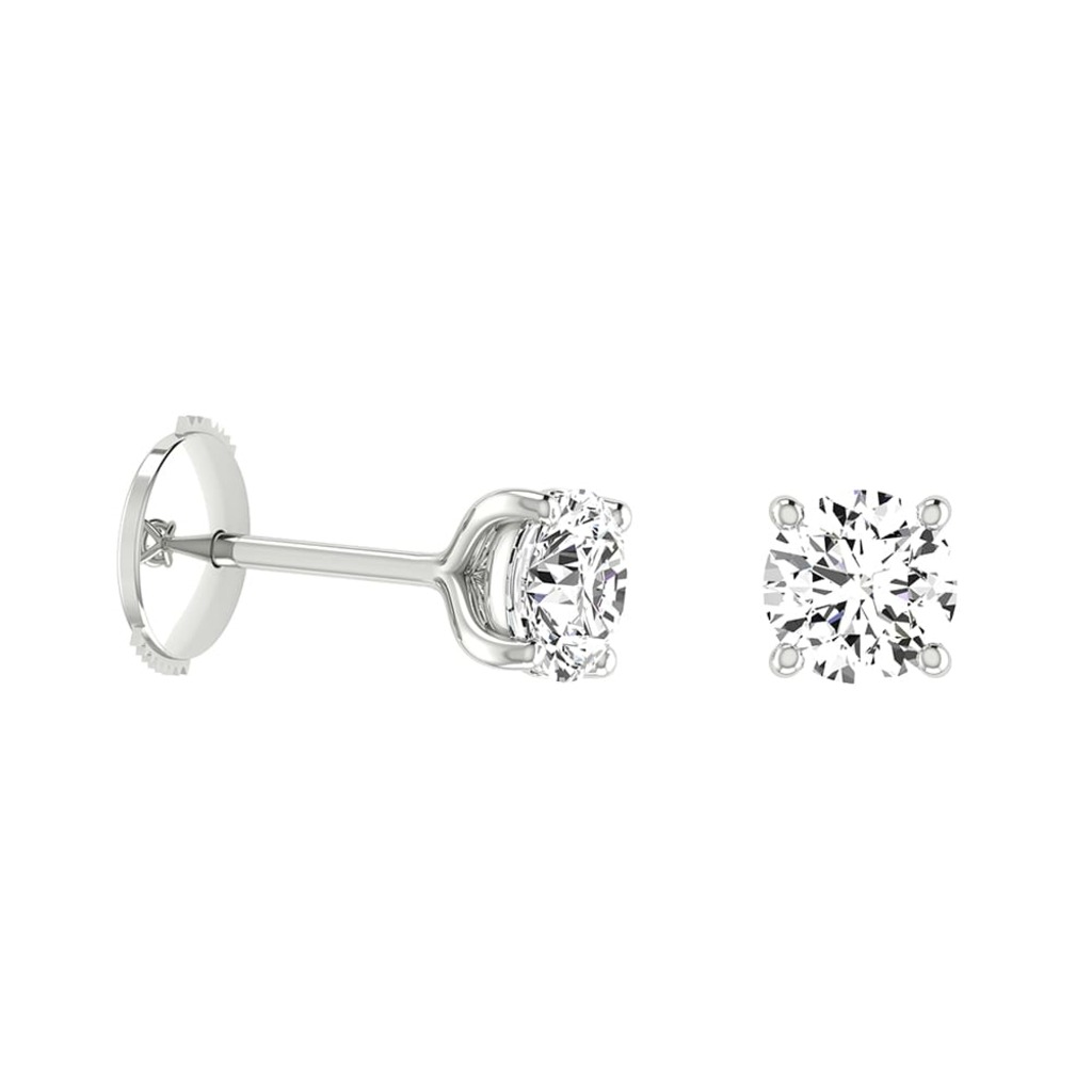 Earrings Classics Diamond 4 CLAWS