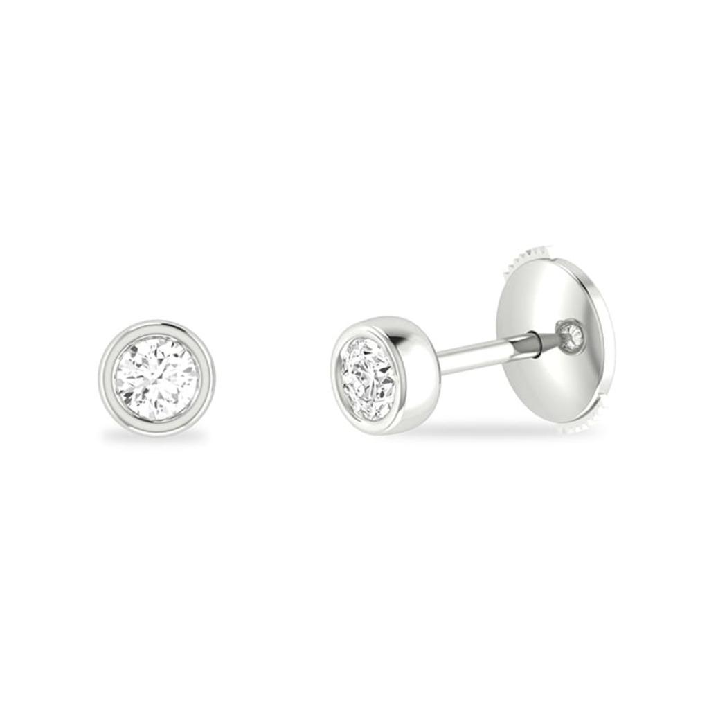 Boucles d'Oreilles  Classique  Diamant serti clos ETERNITE