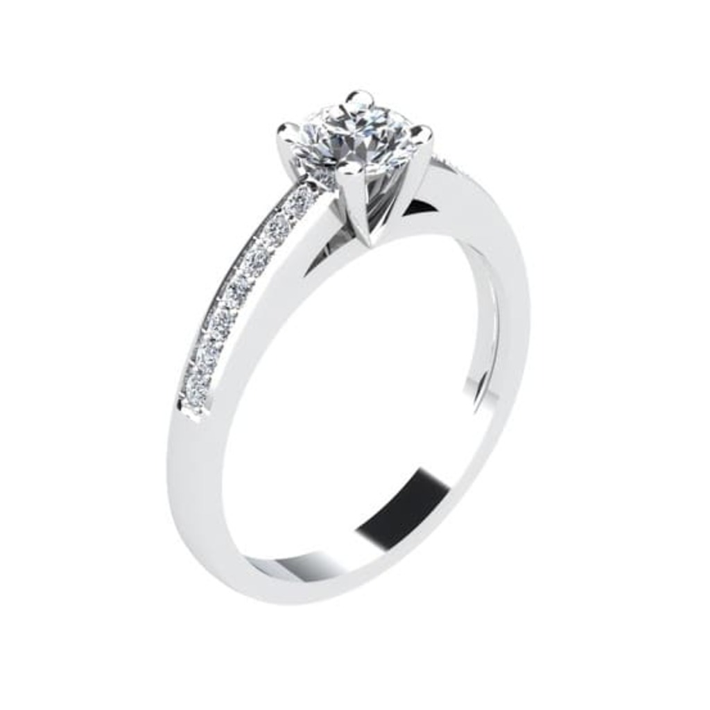 Engagement ring Paved  Diamond SUNRISE (Paved)