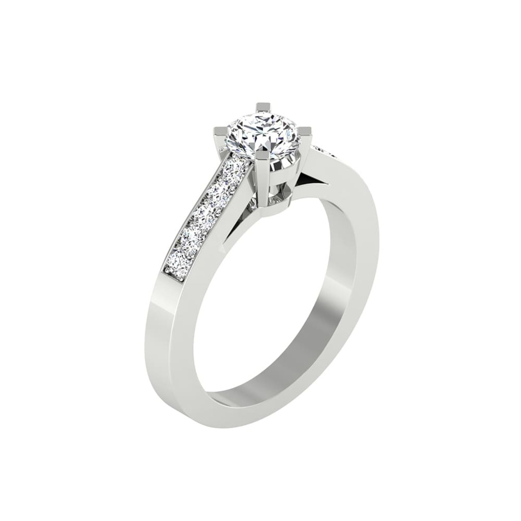 Engagement ring Paved  Diamond CELESTIAL