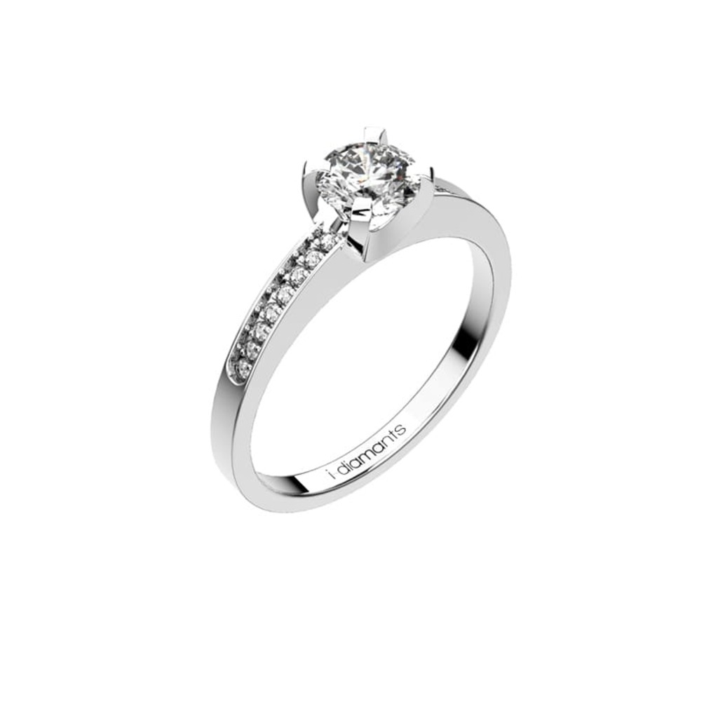 Engagement ring Paved  Diamond DEVA (paved)