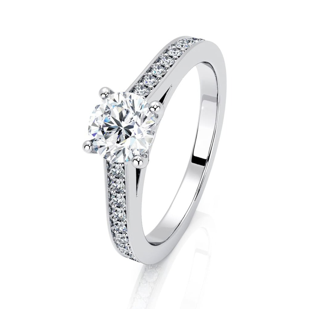 Engagement ring Paved  Diamond 4 Claws Karma (paved)