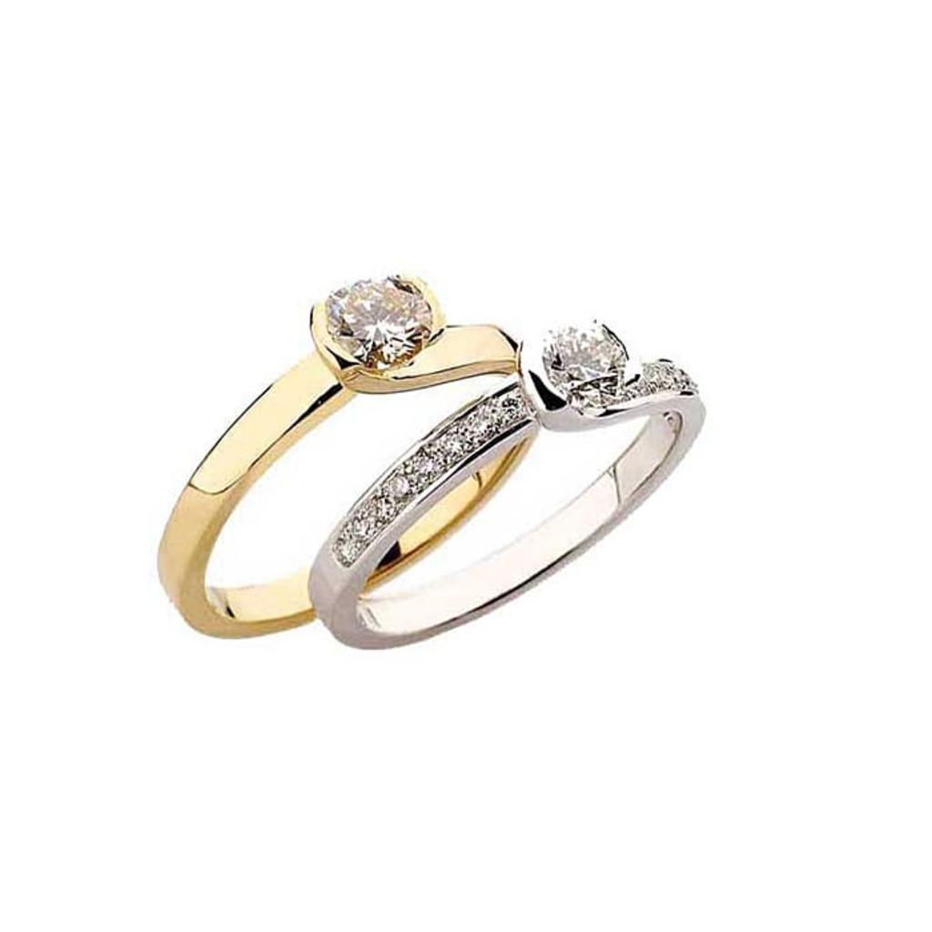 Solitaire  Classique avec pavage  Diamant NOUVELLES ETREINTES avec pavage