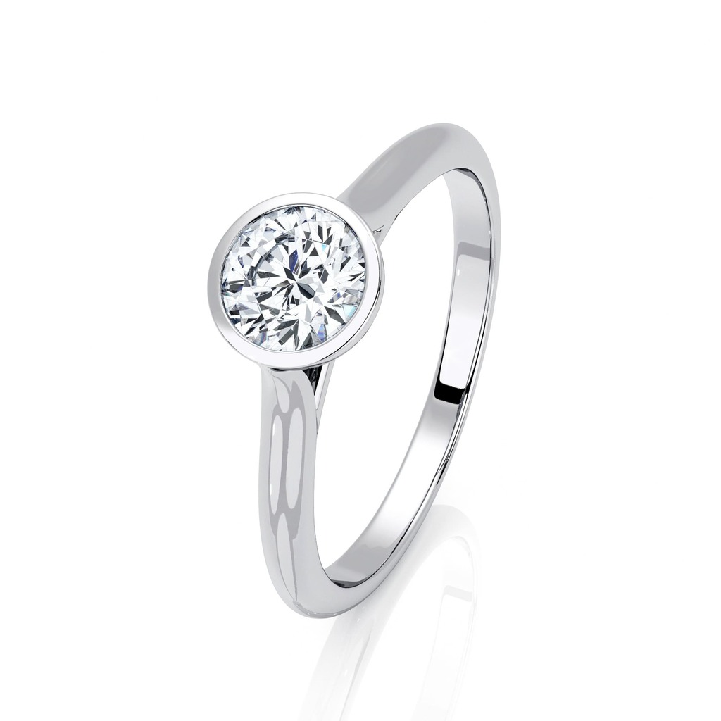 Solitaire  Classique  Diamant serti clos ETERNITE