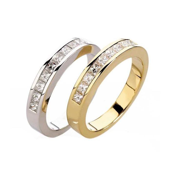 achat Alliance Demi-tour Diamant or PRINCESSE
