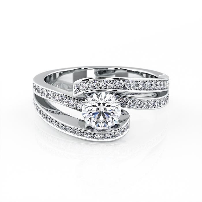 achat Bague  Classique  Diamant or CARESSE