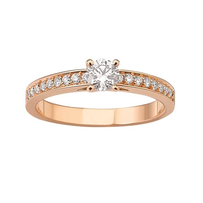 achat Bague  Classique  Diamant or Or Rose