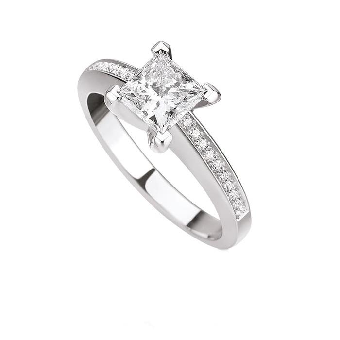 achat Bague  Classique  Diamant or PRINCESSE ROYALE avec pavage