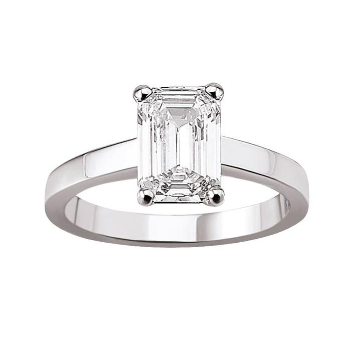 achat Bague  Classique  Diamant or taille EMERAUDE