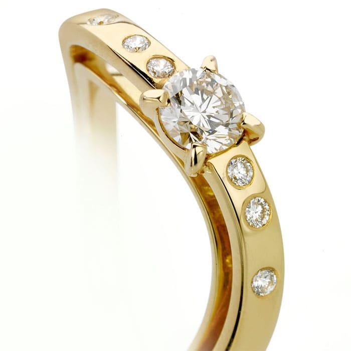 purchase Ring Designer jewellery Diamond Gold LIGHT GLANCE N°3