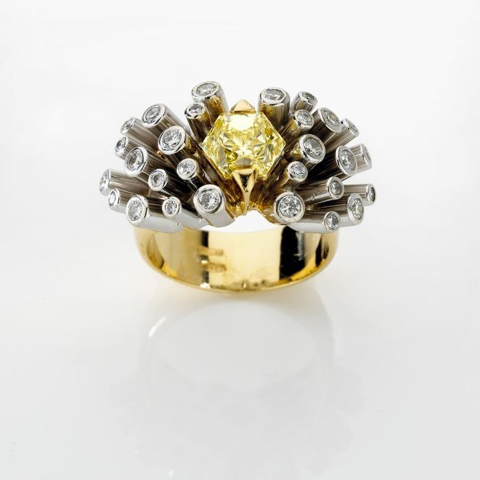 achat Bague  Créateurs Diamant or FEU d' ARTIFICE