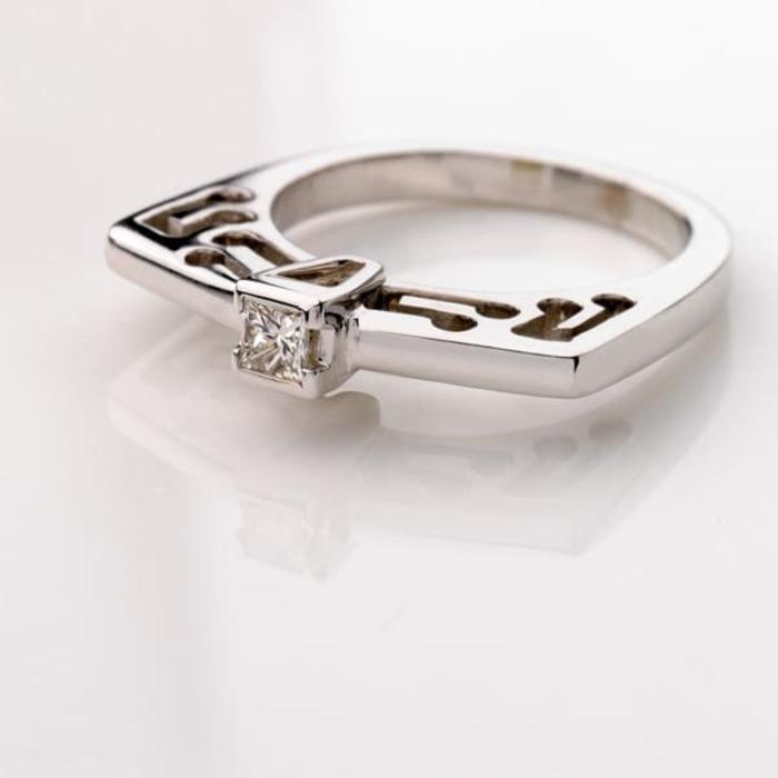 purchase Ring Designer jewellery Diamond Gold PRINCESS MUSIC by Sandro