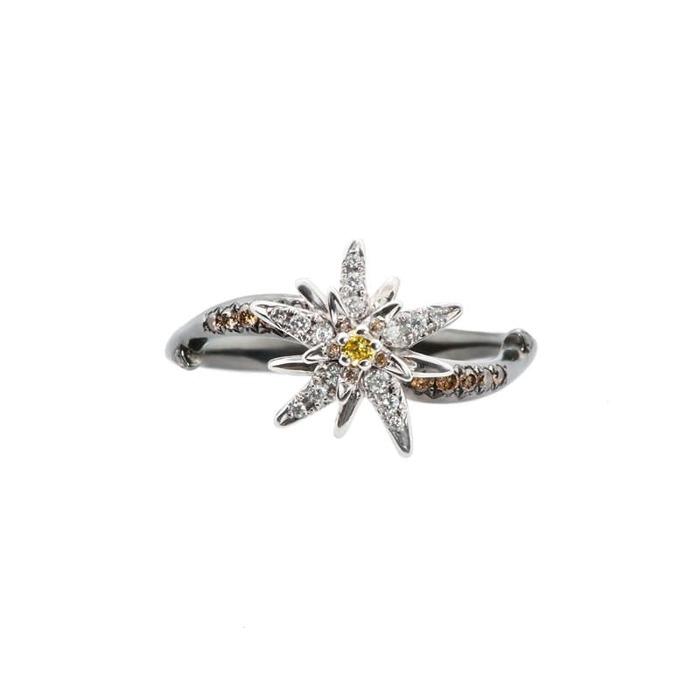 achat Bague  Créateurs Diamant or Terre d'Edelweiss