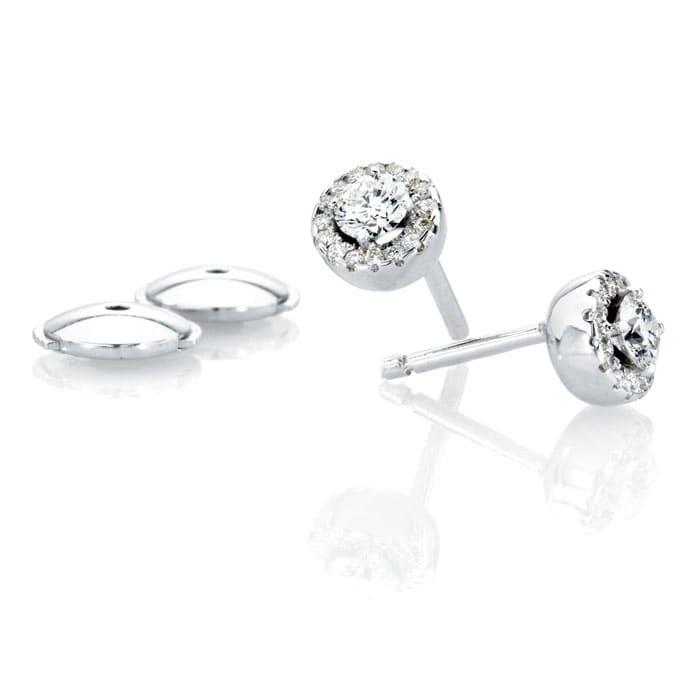 achat Boucles d'Oreilles  Classique  Diamant or pavées or blanc TENTATION
