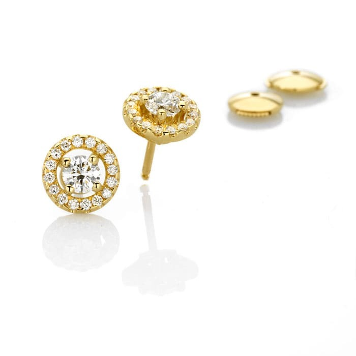 achat Boucles d'Oreilles  Classique  Diamant or pavées or jaune TENTATION