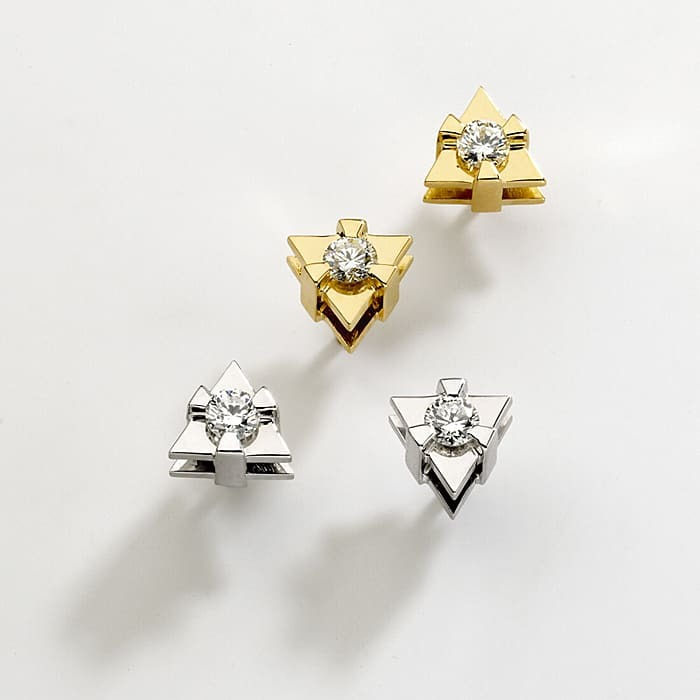 purchase Earrings Designer Diamond Gold LOVE TRIANGLE by Sandro