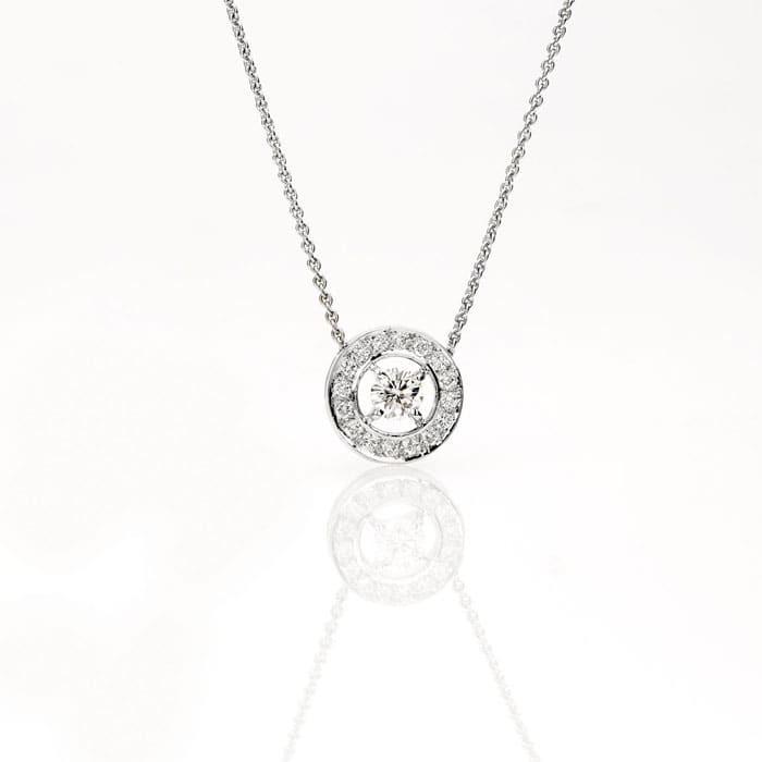 achat Pendentif Classique  Diamant or pavé, CERCLE DES POETES