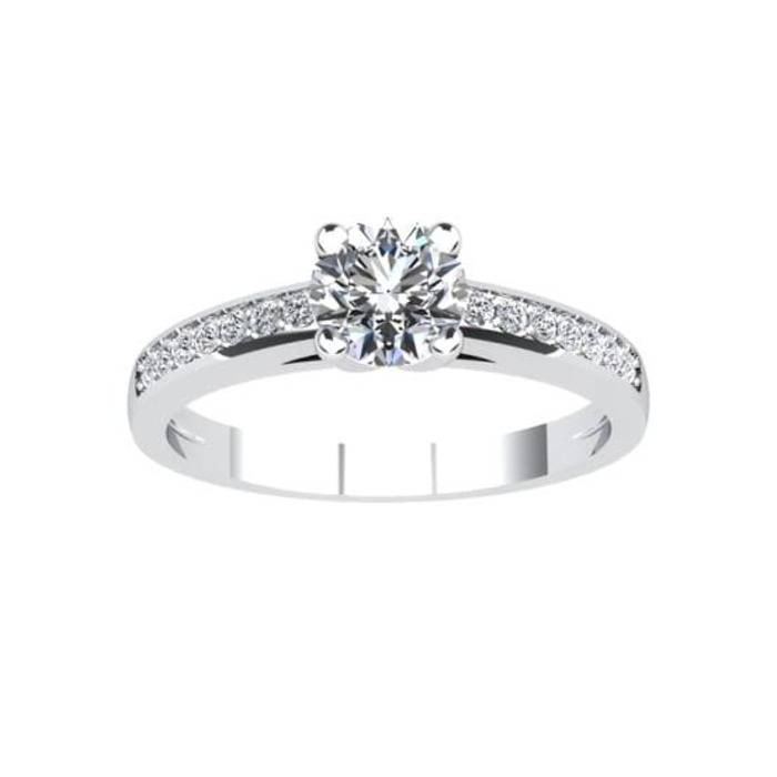 purchase Engagement ring Paved  Diamond Gold SUNRISE (Paved)
