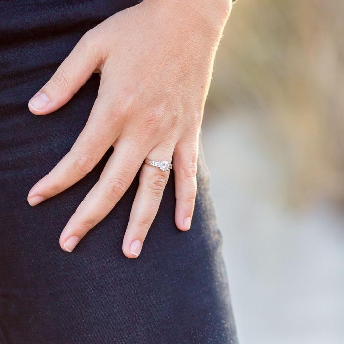 purchase Engagement ring Paved  Diamond Gold Bi-LED Princess Fire