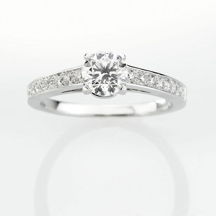 purchase Engagement ring Paved  Diamond Gold PARIS Premium 2