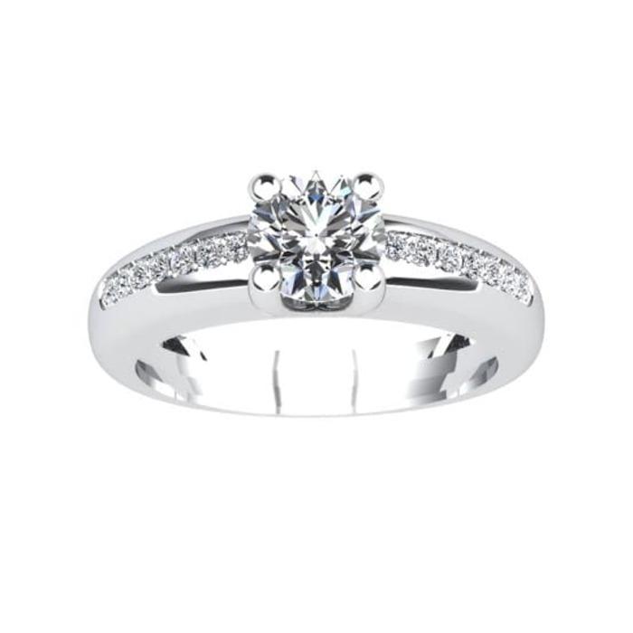 achat Solitaire  Classique avec pavage  Diamant or PARISOLO Micropavé