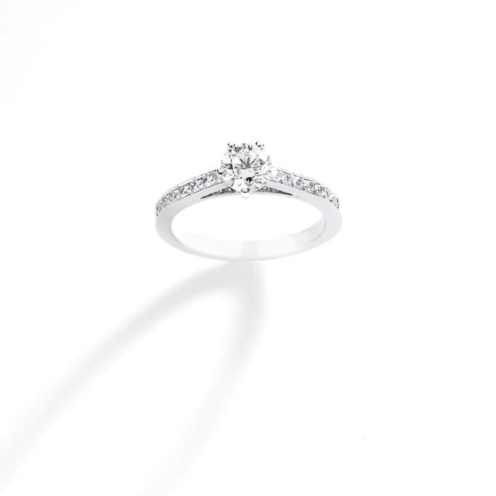 achat Solitaire  Classique avec pavage  Diamant or SOLITAIRE 5 +