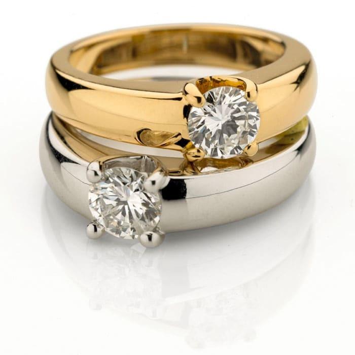 purchase Engagement ring Classics Diamond Gold PARISOLO