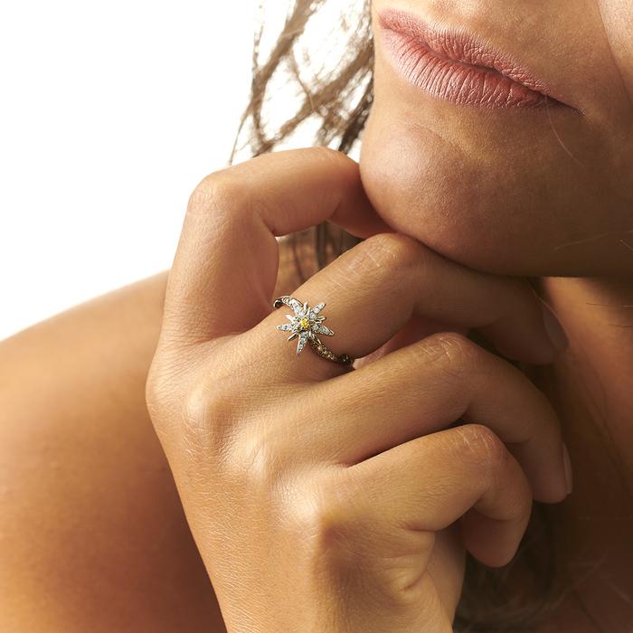 acheter Bague  Créateurs Diamant or Terre d'Edelweiss
