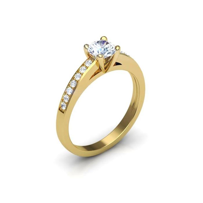 buy Engagement ring Paved  Diamond Gold SUNRISE (Paved)