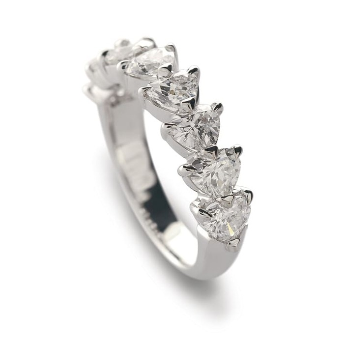 Wedding Band Half set  Diamond Gold HEART