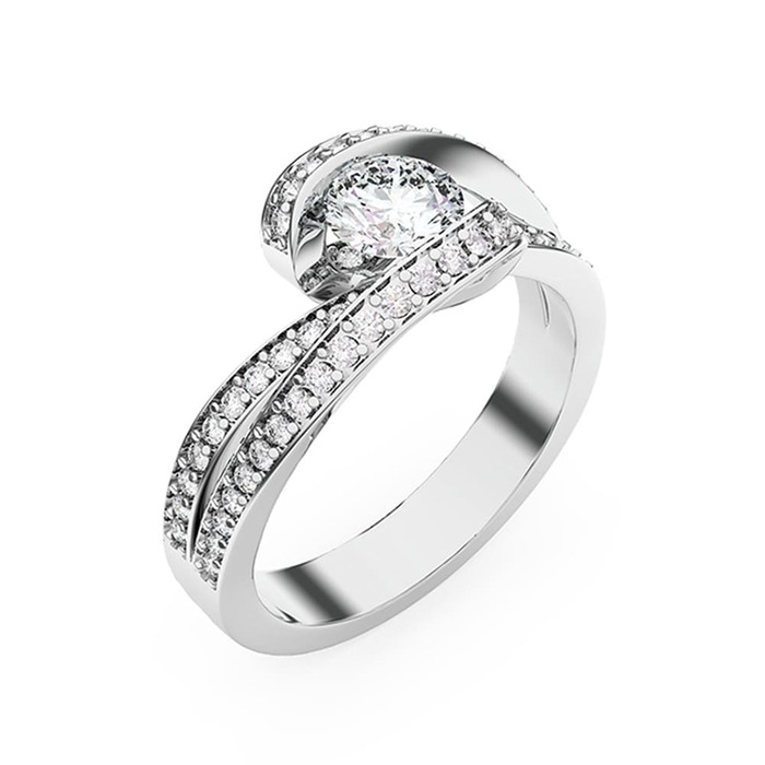 Bague  Classique  Diamant or CARESSE